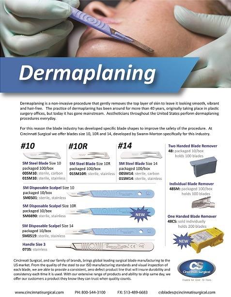 Dermaplaning blade